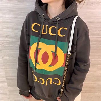GUCCI Men Women Fashion Hooded Top Pullover Sweatshirt Hoodie