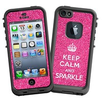 Keep Calm and Sparkle Skin  for the iPhone 5 Lifeproof Case by skinzy.com