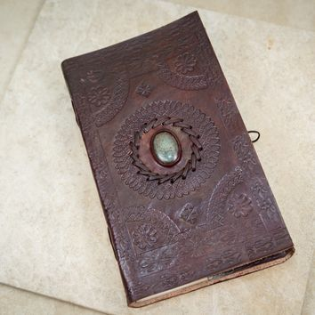 Turquoise Leather Journal [Large]
