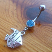 Belly Button ring - Fish Belly Button Ring