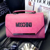 Moschino Women Shopping Bag Leather Chain Satchel Shoulder Bag Crossbody G-A-GHSY-1
