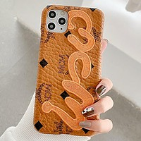 MCM Fashion iPhone Phone Cover Case For iPhone 7 7plus 8 8plus X iPhone XR XS MAX 11 Pro Max 12 mini 12 Pro Max 1
