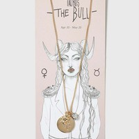 Taurus Charm Necklace - Jewellery - Bags & Accessories
