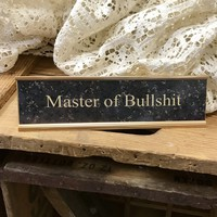 Master of BS Desk Plaque