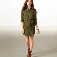 AE Studded Shirt Dress   American Eagle Outfitters