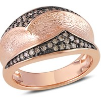1/4 Carat Brown Diamond Fashion Ring in Sterling Silver