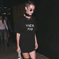 YUCK FOU cactus pocket girls tour print Women tshirt Cotton Casual Funny t shirt For Lady Top Tee Hipster black Drop Ship Z-327