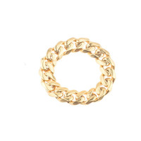 Mister  Facet Curb Ring - Gold