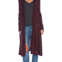 KNITZ by For Love & Lemons Zoey Cardigan in Red