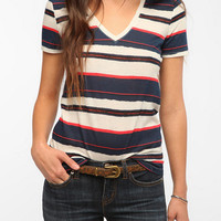 Urban Outfitters - BDG Printed Sheer V-Neck Tee