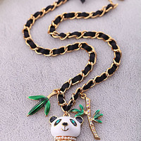 beautiful panda bear necklace betsey johnson