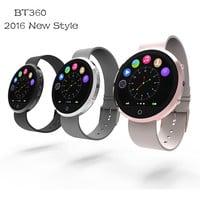 2016 New Round Smart Watch BT360 Health Monitor Bluetooth Smartwatch Support SIM Card For IOS Android Smartphone 3 Colors WT8005