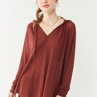Out From Under Maya Relaxed Thermal Hoodie Sweatshirt   Urban Outfitters