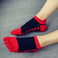 Mens Toe Socks Cotton Five Fingers Socks Casual Socks with Toes Ankle Socks 5 colors SM6