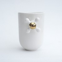 Supermarket: Porcelain Mug With Fauced Handle Decorated with Real Gold from Kina Ceramic Design
