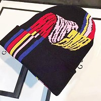 FENDI Newest Fashion Women Men Cute Beanies Knit Hat Warm Woolen Hat