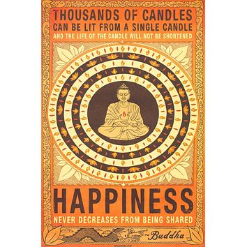 Thousands of Candles Buddha Quote Poster 24x36
