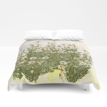 Picking daisies Duvet Cover by anipani