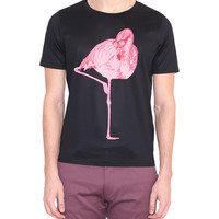 Paul Smith Cottoned t-shirt with flamingos print