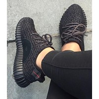 """Adidas"" Women Yeezy Boost Sneakers Running Sports Shoes I black"
