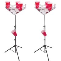 Beer Pong Table Set - Pong Islands w/ standard graphic & INCLUDES WATER CUP HOLDERS!