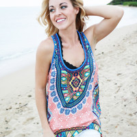 Hit the Road Printed High-Low Tank