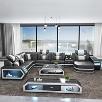 Stylish Black Bold Finished Sofa Set