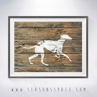 Greyhound 2 art illustration print,dog painting,Wall art,Rustic Wood art,Animal print,Home Decor,Animal silhouette,Greyhound print,dog print
