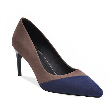 Lady Pointed Toe Pumps Woman's Shoes High-heeled Matching Color