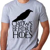Crows Before Hoes T Shirt funny vintage shirt
