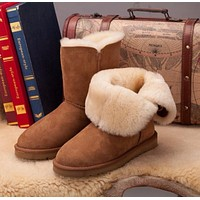 Ugg 5803 Chestnut Classic Bailey Button II Boot Snow Boots 1016226