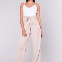 Sunday Woven Jumpsuit - Taupe