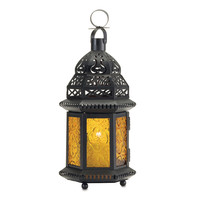 Yellow Glass Moroccan Lantern