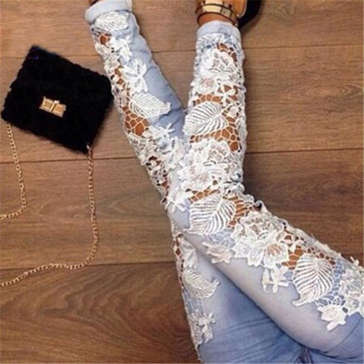Image of Hollow Out Tight Jeans