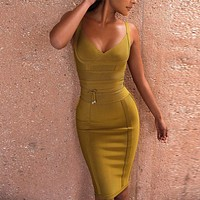 Tie Waist Bandage Dress