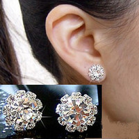 New Crystal Flower Earrings