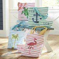 Sea Breeze Stripe Pouches - Pink
