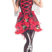 Day of the Dead Senorita Rose Costume