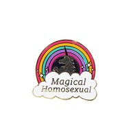 GAYPIN Magical Homosexual Pin-Multi