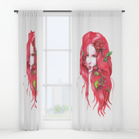 Red Wine Window Curtains by edrawings38