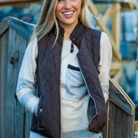Times Square Vest, Brown