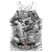 SONS OF ANARCHY/BRAWL - ADULT 100% POLY TANK TOP - WHITE -