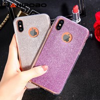 iPhone X Case Luxury Bling silicone Case for iPhone 10 Coque shell case Rhinestone