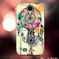 MC12Y,10,Watercolor,Dreamcatcher,painting-Accessories case cellphone- Design for Samsung Galaxy S5 - Black case - Material Soft Rubber