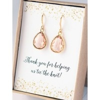 Brides Maid Gift - Earrings & Necklace Set