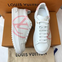 Women's Lv Logo Time Out Sneaker With Pink