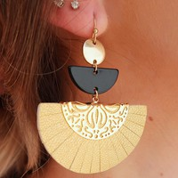 Made For You Earrings: Gold/Multi