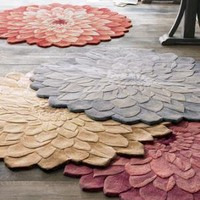 """""""Zinnia"""" Floral Rug - Horchow"""