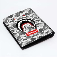 SUPREME BAPE CAMO SHARK Men's Wallet