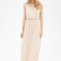 FOREVER 21 Faux Stone Embellished Dress Nude